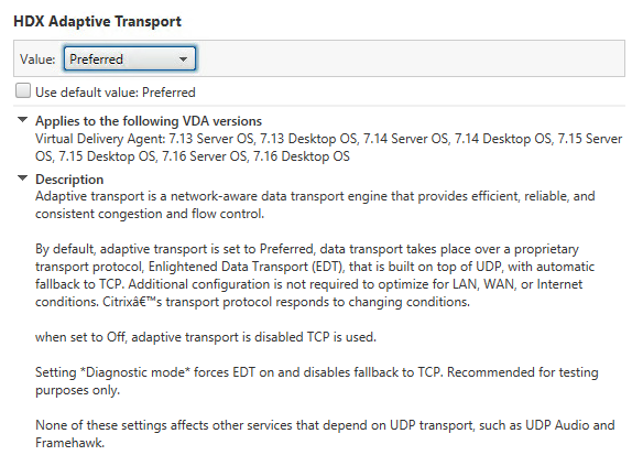 Citrix HDX Adaptive Transport, Datagram Transport Layer