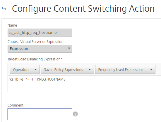 Citrix Advanced Content Switching Policy/Action – VIRTUAL-HAWK COM